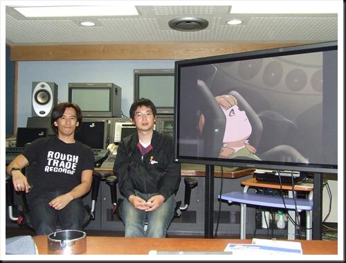 前田真宏監督(左)と、キュー・テック社の岡田和憲氏